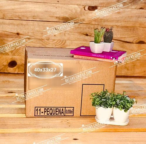 Caixa de papelão seminova pequena / parede simples 📏40compx33largx27alt