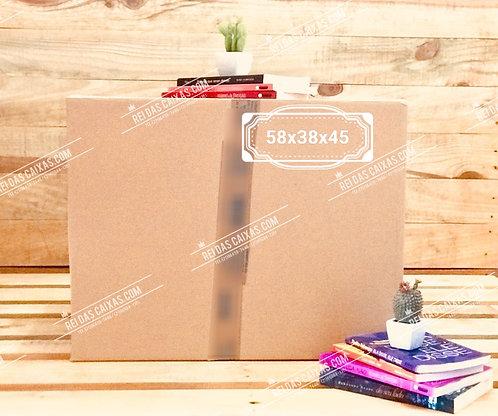Caixa de papelão seminova grande / parede dupla 📏58compx38largx45alt