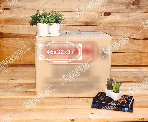 Caixa de papelão seminova média / parede dupla 📏46compx32largx37alt