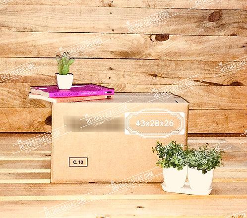 Caixa de papelão seminova pequena / parede dupla 📏43compx28largx26alt