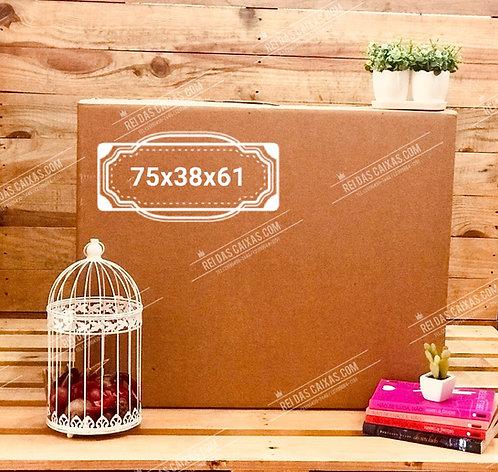 Caixa de papelão seminova GG / parede dupla 📏75compx38largx61alt