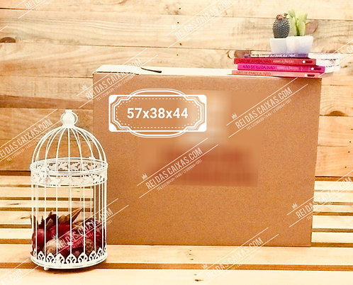 Caixa de papelão seminova grande / parede dupla reforçada 📏57compx38largx44alt