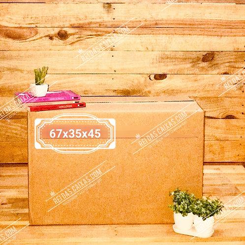 Caixa de papelão seminova grande / parede dupla 📏67compx35largx45alt