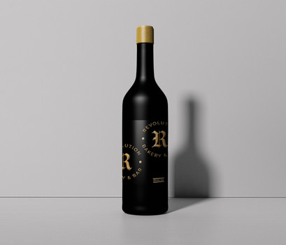 Branded wine bottle