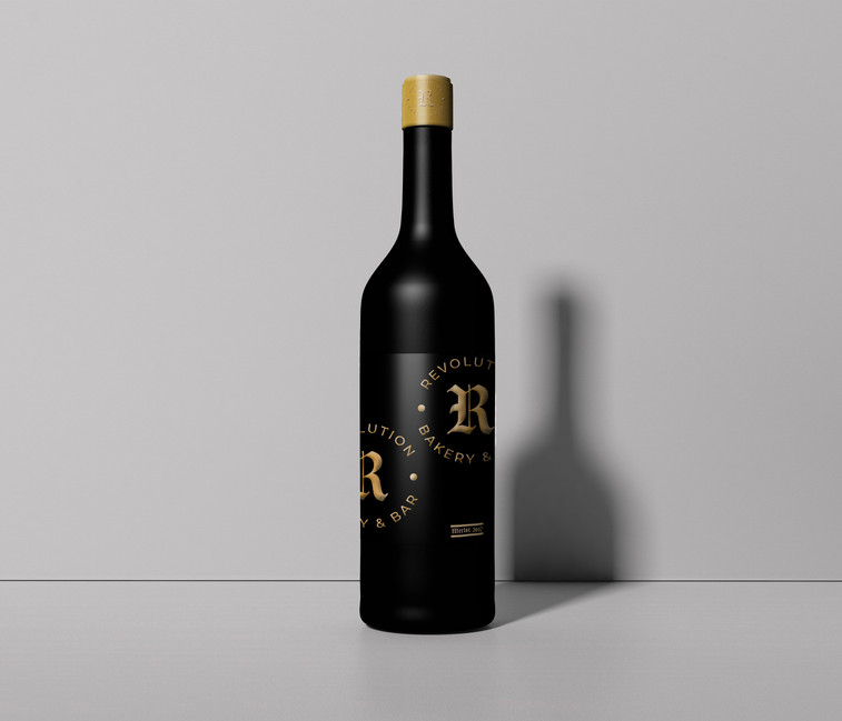 Branded wine bottle