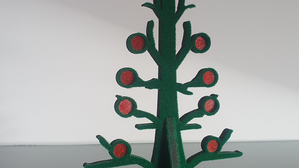 Flocked Tree with baubles