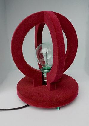 Round flocked retro lamp