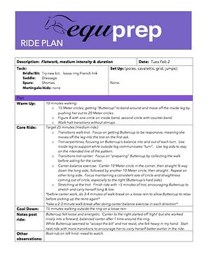 Equprep: Horse Ride Plan