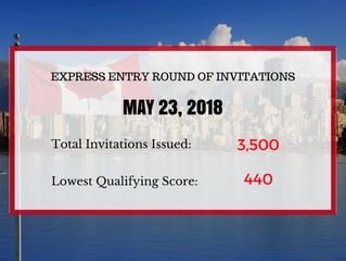Express Entry: May 23, 2018