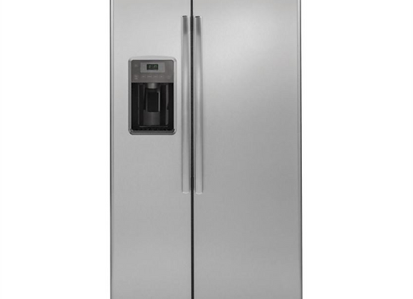 GE 21.9 cu. ft. Side by Side Refrigerator in Stainless Steel, Counter Depth