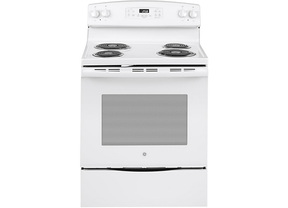 "GE 30"" 5.3 cu.ft. Electric Range in White"