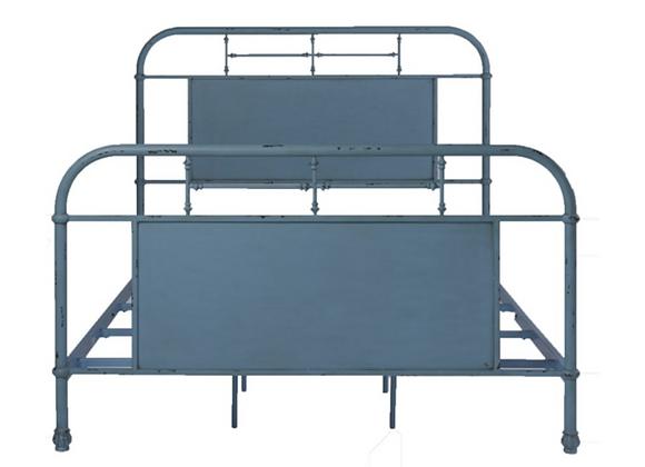Liberty Vintage Series Queen Metal Bed - Blue