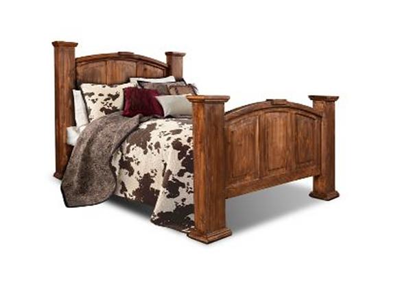 Horizon Home Estancia Brown Wax King Complete Bed