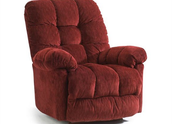Best Home Furnishings Power Swivel Glider Recliner in Cocoa
