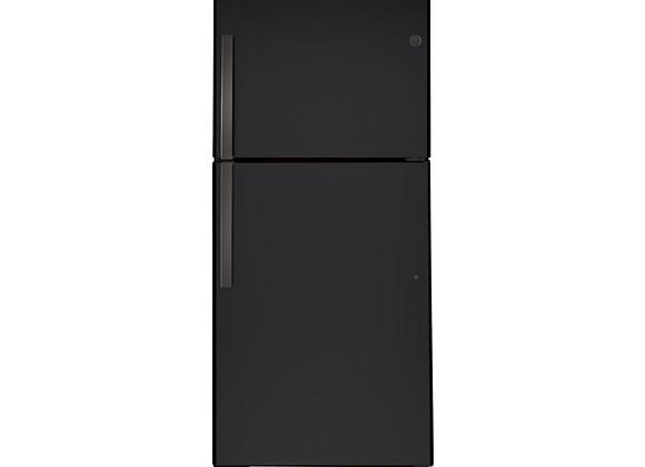 GE 21.9 Cu. Ft. Top-Freezer Refrigerator in Black Slate, Fingerprint Resistant