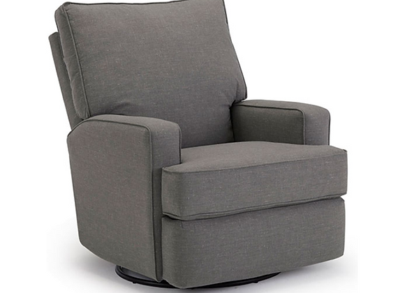 Best Home Furnishings Kersey Power Swivel Glider Recliner in Charcoal