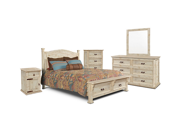 Horizon Home Windwood Latte Queen Bed and Dresser and Mirror