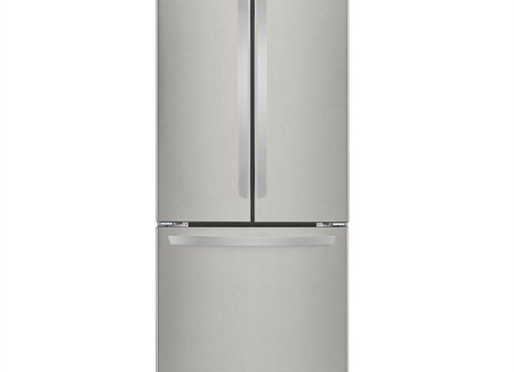 LG 30 in. W 21.8 cu. ft. French Door Refrigerator in Stainless Steel