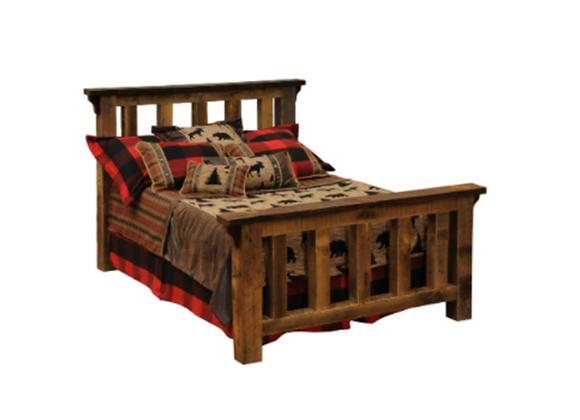 Fireside Lodge Barnwood Queen Post Bed
