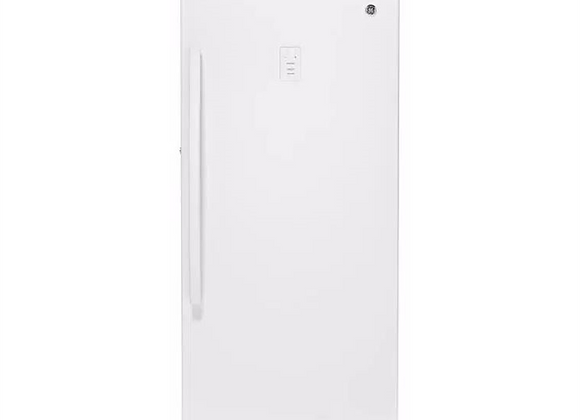 GE 14.1 cu. ft. Frost Free Upright Freezer in White, ENERGY STAR