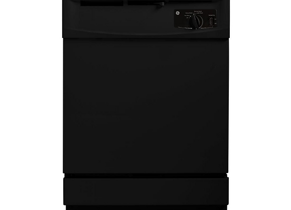 GE Front Control Dishwasher in Black, 64 dBA