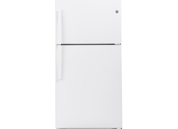 GE 21.9 cu. ft. Top Freezer Refrigerator in White, ENERGY STAR