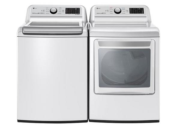 LG Mega Capacity Smart Top Load Washer and Ultra Large Smart Front Load Dryer