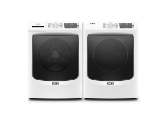 Maytag White Stackable Front Load Washer & 240-Volt Electric Dryer