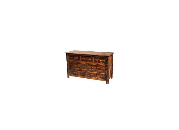 Fireside Barnwood Dresser 7 Drawer