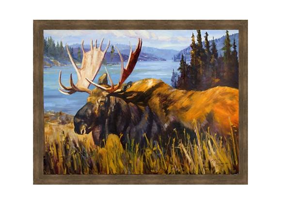 Moose at the Lake Wall Art