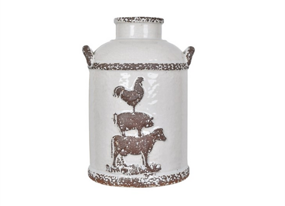 Crestview Small Farmhouse Churn Jar