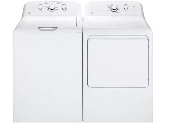 GE Stainless Steel Basket Washer and Aluminized Alloy Drum Electric Dryer
