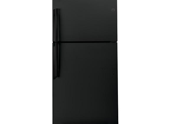 GE 21.9 cu. ft. Top Freezer Refrigerator in Black, ENERGY STAR