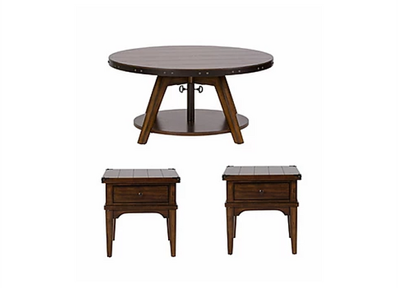 Liberty Aspen Skies Motion Cocktail Table and End Tables (3 piece set)
