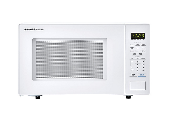 Sharp 1.1 cu. ft. 1000W Countertop White Microwave