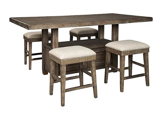 Ashley Wyndahl Counter Height Dining Table and 6 Barstools Set