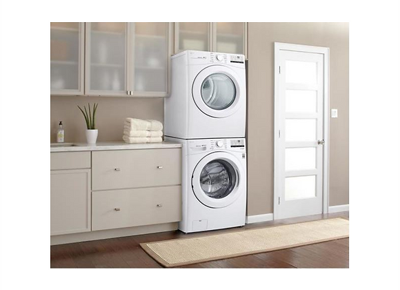 LG White Front Load Washer & Smart Electric Vented Dryer