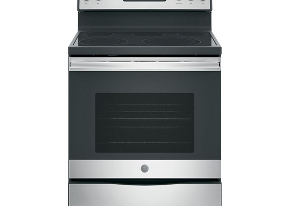 GE  5.3 cu. ft. Electric Range Smooth Surface Self-Cleaning Convection Oven