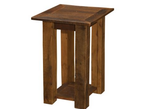 Fireside Lodge Barnwood Open End Tables