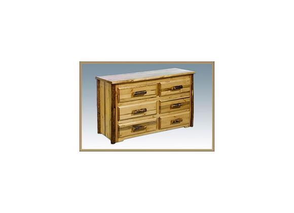 Montana Woodworks Glacier Collection 6 Drawer Dresser
