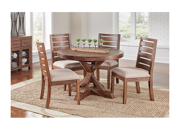 A-America Anacortes Trestle Table and Ladderback Chairs