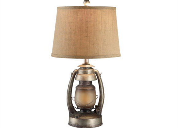 "Crestview ""Oil Lantern"" Table Lamps with Night Lights"