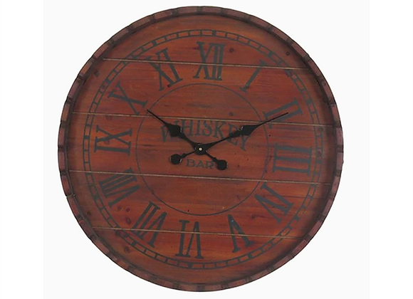 Crestview Whiskey Barrel Decorative Wall Clock