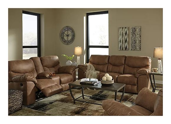 Ashley Boxberg Reclining Sofa and Loveseat with Console