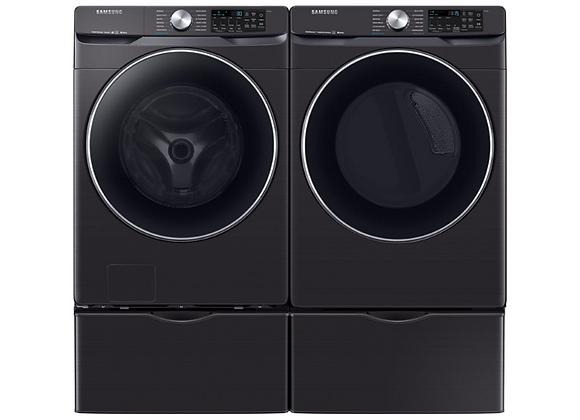 Samsung Fingerprint Resistant Black Stainless Front Load Washer & Gas Dryer