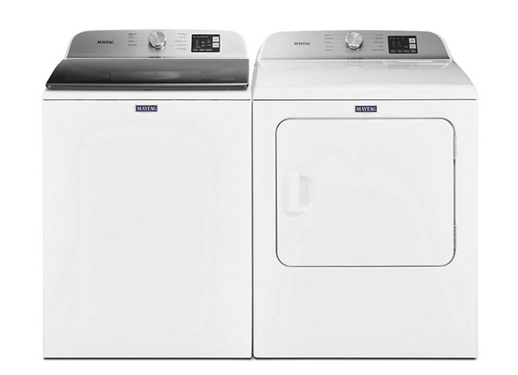 Maytag 4.8 cu. ft. White Top Load Washing Machine & 7.0 cu. ft. Electric Dryer