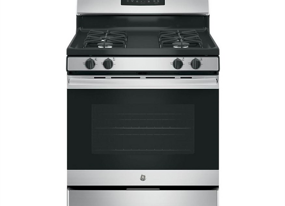 GE 30 in. 5.0 cu. ft. Gas Range with Self-Cleaning Oven in Stainless Steel