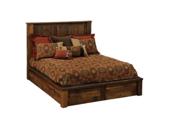 Fireside Lodge Barnwood King Traditional or Queen Post Bedroom Set