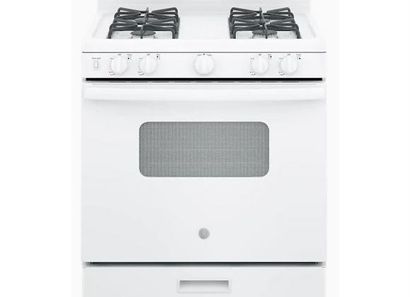 GE 30-in 4 Burners 4.8-cu ft. Freestanding Gas Range in White