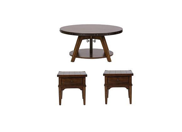 Liberty Furniture Aspen Skies 3pc Occasional Set
